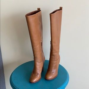 Tory Burch tan leather boots. Offers are welcome!